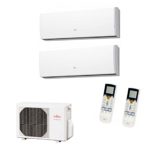 Fujitsu Air Conditioning AOYG14LAC2 Multi-Split Inverter Heat Pump 2 x ASYG07LUCA (2Kw / 7000Btu) Wall Mounted 240V~50Hz